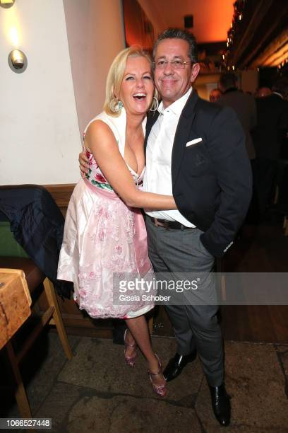 Dirndl fashion designer Astrid Soell and her husband Volker Woehrle during the Christmas Charity Dinner hosted by StefanMross AnnaCarinaWoitschack...