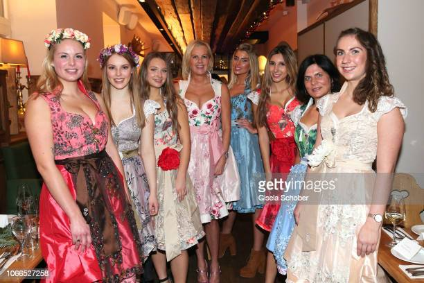 Dirndl fashion designer Astrid Soell and models during the Christmas Charity Dinner hosted by StefanMross AnnaCarinaWoitschack and Connections PR for...