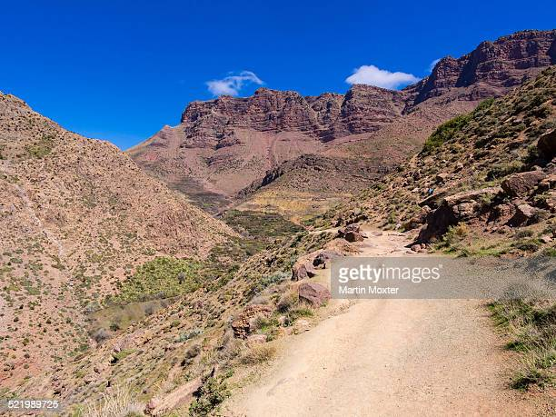 Dirt path in the Atlas Mountains, Anammer, Ourika Valley, Marrakech-Tensift-Al Haouz, Morocco