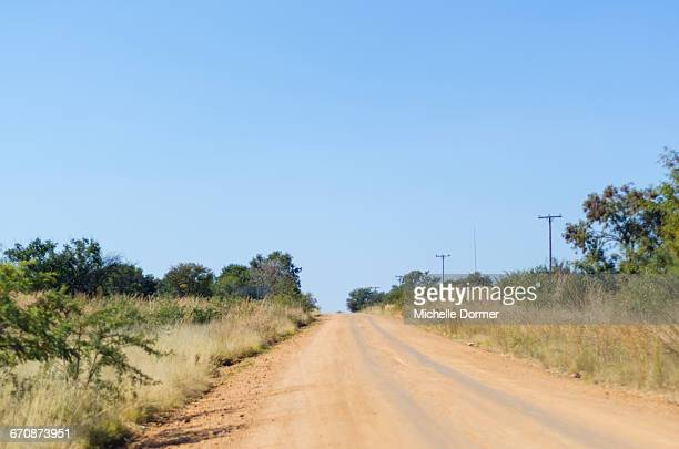 Dirt road, Hartbeespoort Dam, North West Province, South Africa.