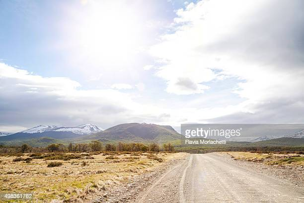Dirt road on countryside