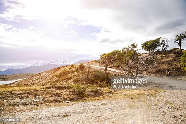 Dirt road on Patagonia, Argentina