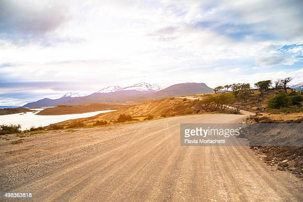 Dirt road on Patagonia, Argentina
