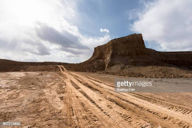 Dirt Road Passing Through A Desert, Auto advertising background