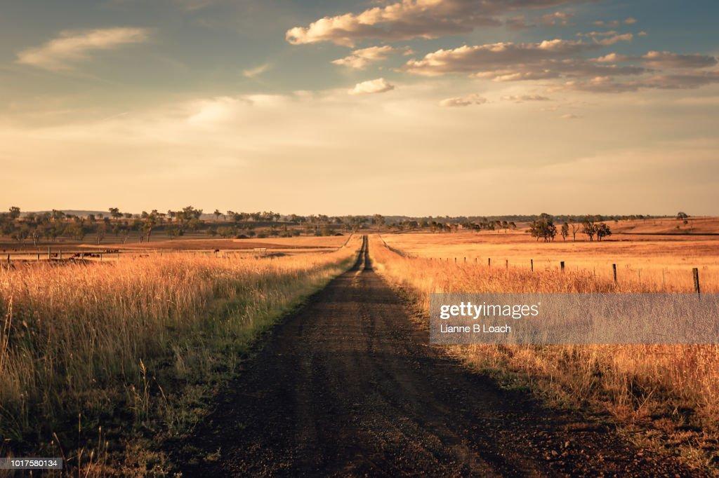 Dirt Road Sunset : Stock Photo