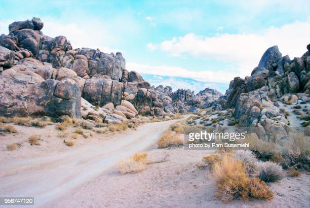 Dirt Road through Alabama Hills Rock Formations