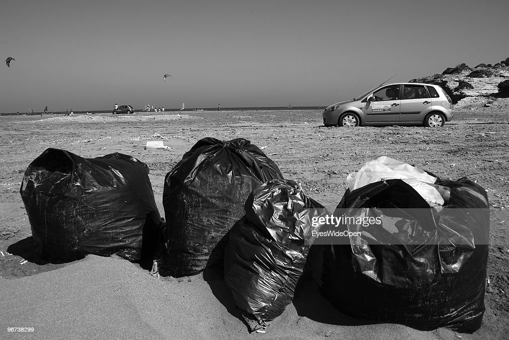 Rental Car Places >> Dirt Rubbish And Tourist Rental Cars On Prassonisi Beach On