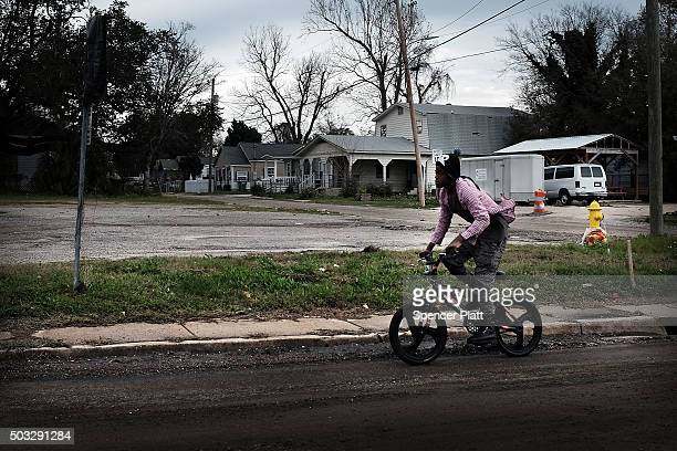 Dirt streets still make up parts of East Biloxi on January 2 2016 in Biloxi Mississippi According to the US Census Bureau Mississippi is the nation's...