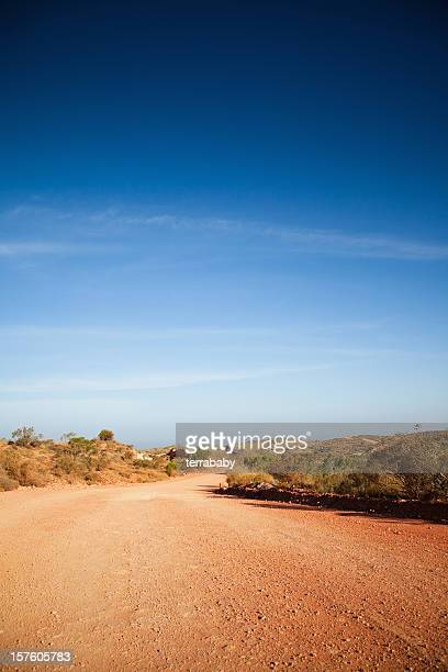 Dirt track leading into the Australian Outback