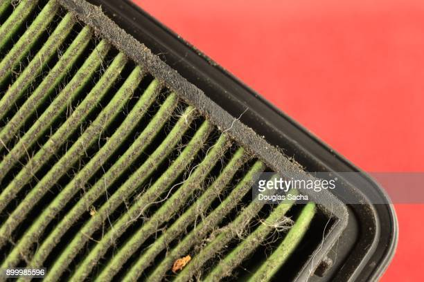 Dirty Air Filter from a Combustible Motor