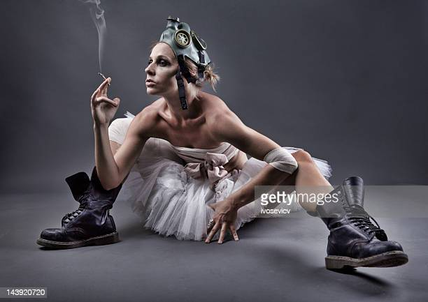 dirty ballerina - gas mask stock pictures, royalty-free photos & images