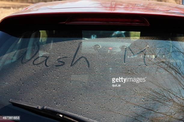 Dirty car window