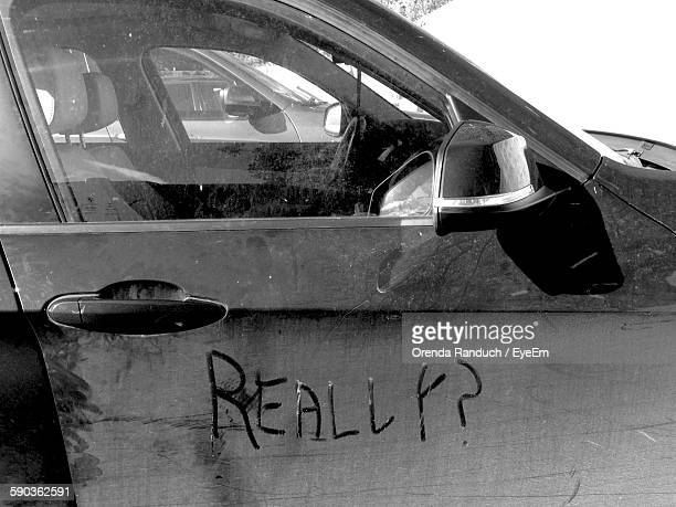 Dirty Car With Text