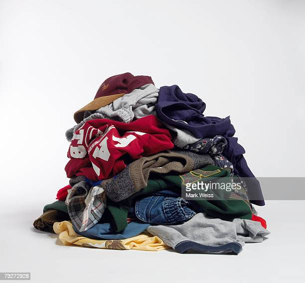 dirty clothes on floor - heap stock pictures, royalty-free photos & images