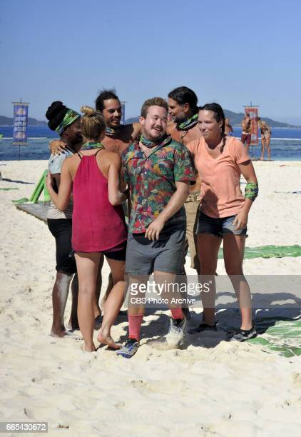 'Dirty Deed' Cirie Fields Andrea Boehlke Oscar 'Ozzy' Lusth Zeke Smith Troyzan Robertson and Sarah Lacina on the fifth episode of SURVIVOR Game...