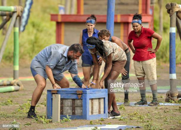 'Dirty Deed' Jeff Varner Aubry Bracco Michaela Bradshaw James 'JT' Thomas and Sandra DiazTwine on the fifth episode of SURVIVOR Game Changers airing...