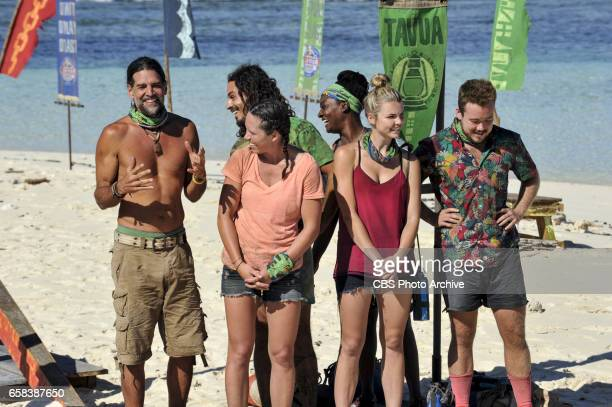 'Dirty Deed' Troyzan Robertson Oscar 'Ozzy' Lusth Sarah Lacina Cirie Fields Andrea Boehlke and Zeke Smith on the fifth episode of SURVIVOR Game...