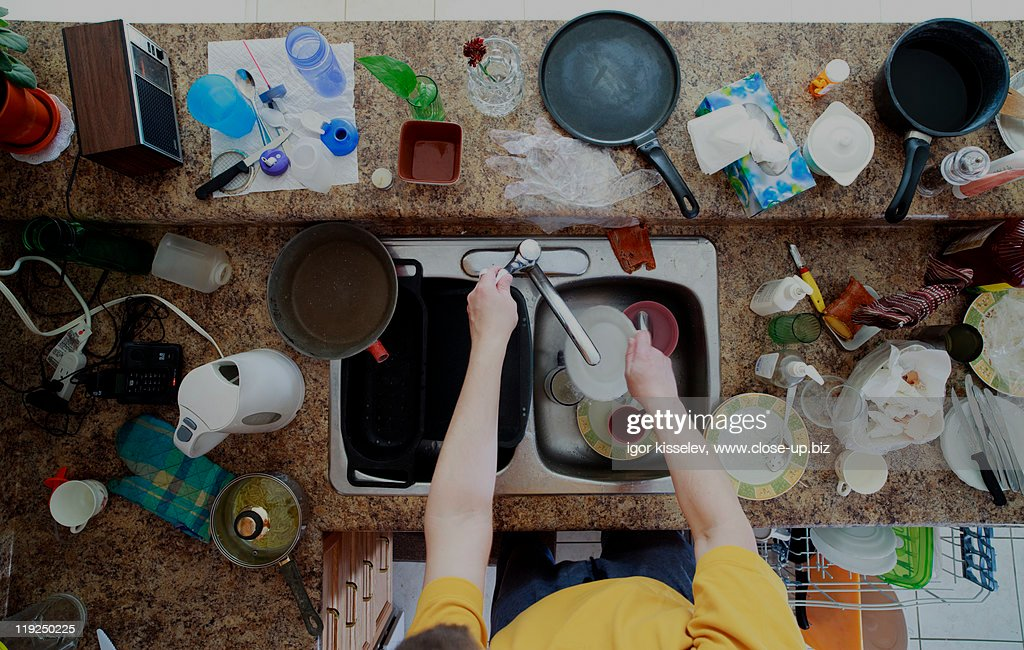 Dirty dishes : Stock Photo
