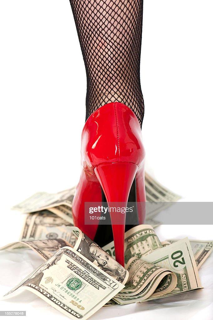 dirty dólares : Foto de stock