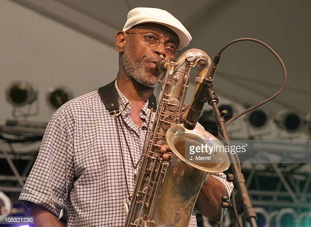 """Dirty Dozen Brass Band during Bonnaroo 2004 - Day 1 - JoJo & His Mojo Mardi Gras Band at Centeroo Performance Fields - """"The Other Tent"""" in..."""