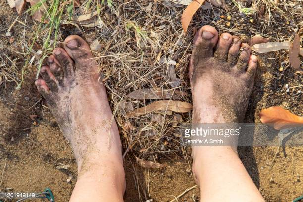 dirty feet - dirty feet stock pictures, royalty-free photos & images