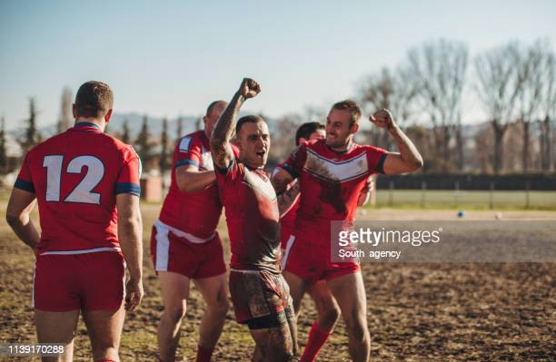 dirty game - rugby team stock pictures, royalty-free photos & images