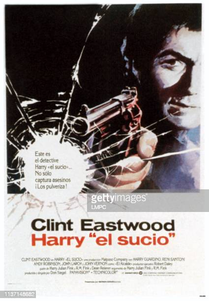 Dirty Harry poster Clint Eastwood on Spanish poster art 1971