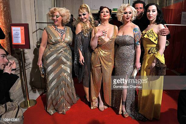 Dirty Martini Julie Atlas Muz Kitten on the Keys Mimi Le Meaux guest and Evie Lovell attend 36th Cesar Film Awards at Theatre du Chatelet on February...