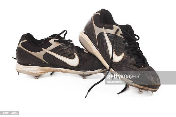 sale nike baseball chaussures à crampons - chaussures noires photos et images de collection