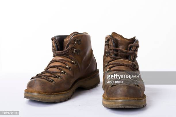 dirty old boot - black boot stock pictures, royalty-free photos & images