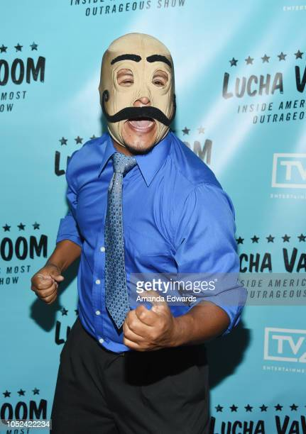 Dirty Sanchez arrives at the 'Lucha Vavoom Inside America's Most Outrageous Show' premiere at the Harmony Gold Theatre on October 17 2018 in Los...