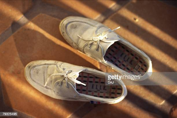 Dirty Shoes, Close Up, High Angle View