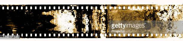 Dirty Vintage Film on a White Background