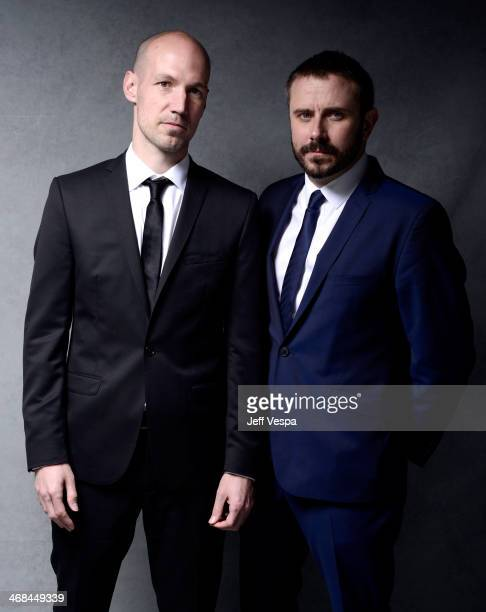 Dirty Wars Director Richard Rowley and Writer/Producer Jeremy Scahill pose for a portrait at the 86th Academy Awards nominee luncheon at The Beverly...