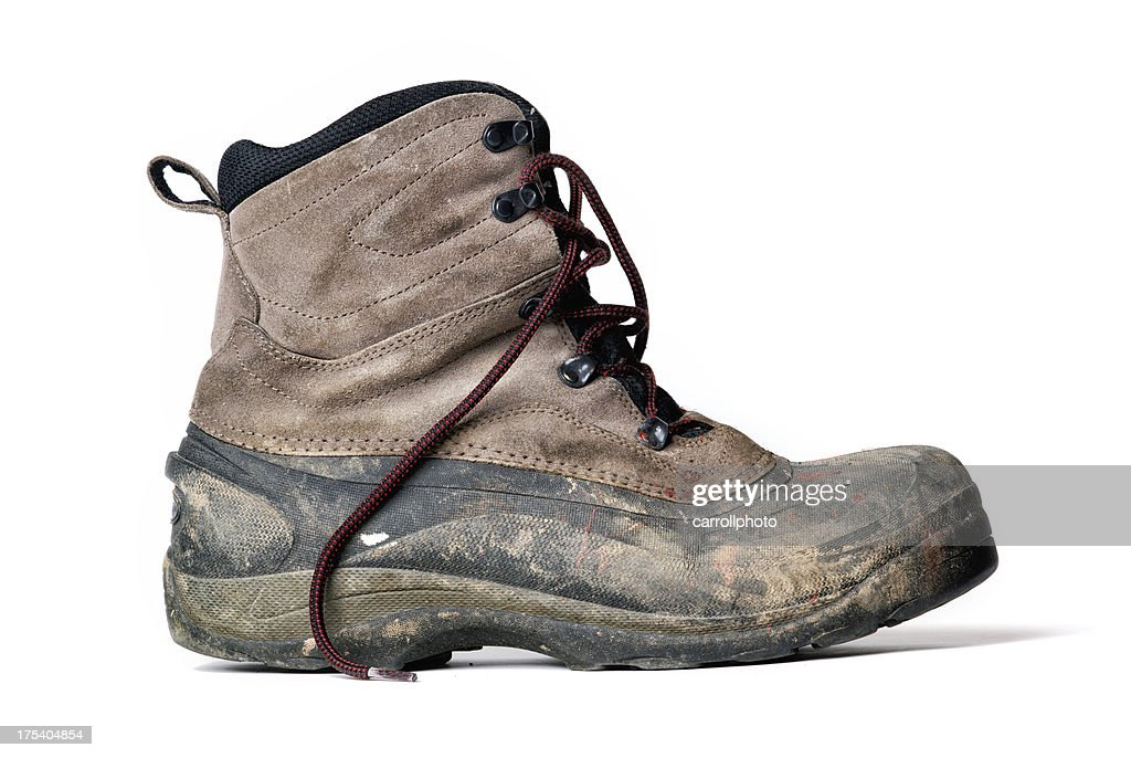 Dirty Work Boot : Stock Photo
