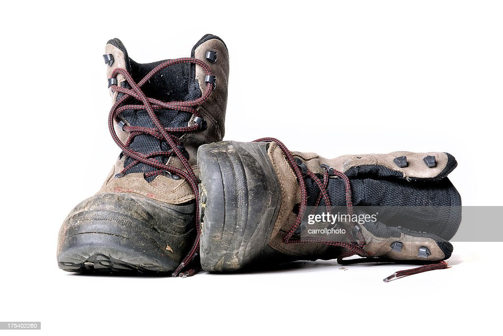 Dirty Work Boots : Stock Photo