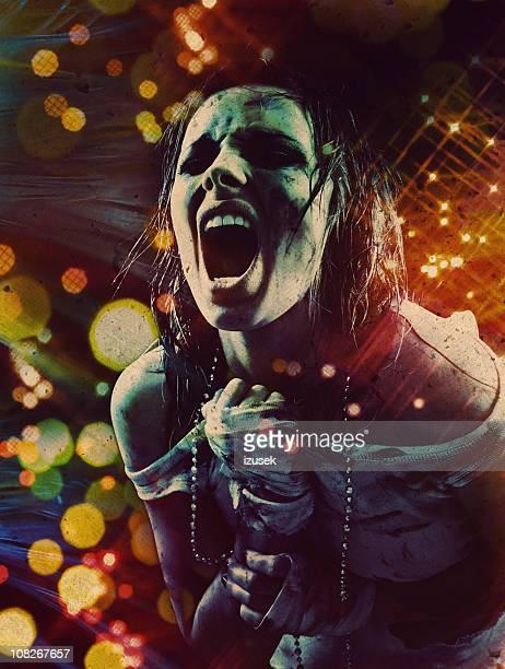 Dirty Young Woman Shouting