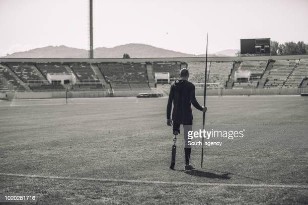 Disability athlete javelin thrower