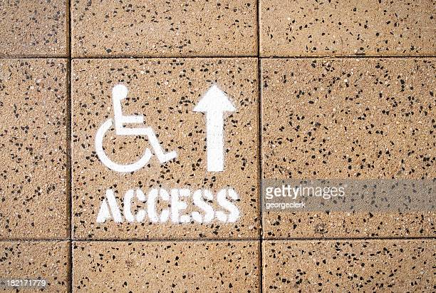 disabled access guidance - disabled access stock photos and pictures