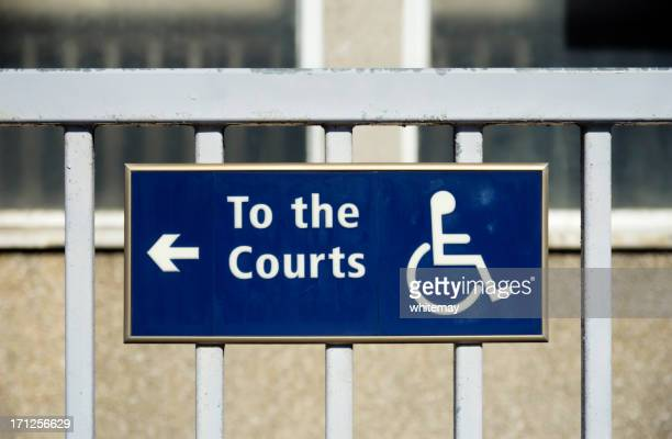 Behindertengerechter Zugang zum Recht Tennisplätze