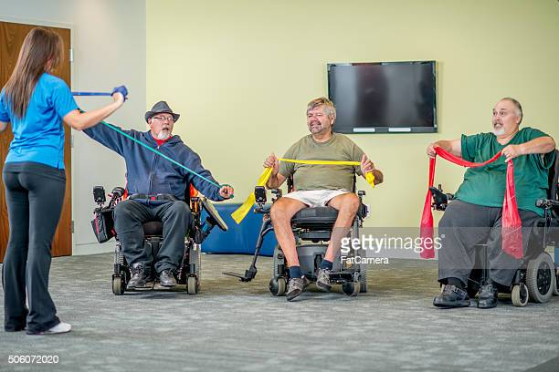 Disabled Adults Taking a Fitness Class