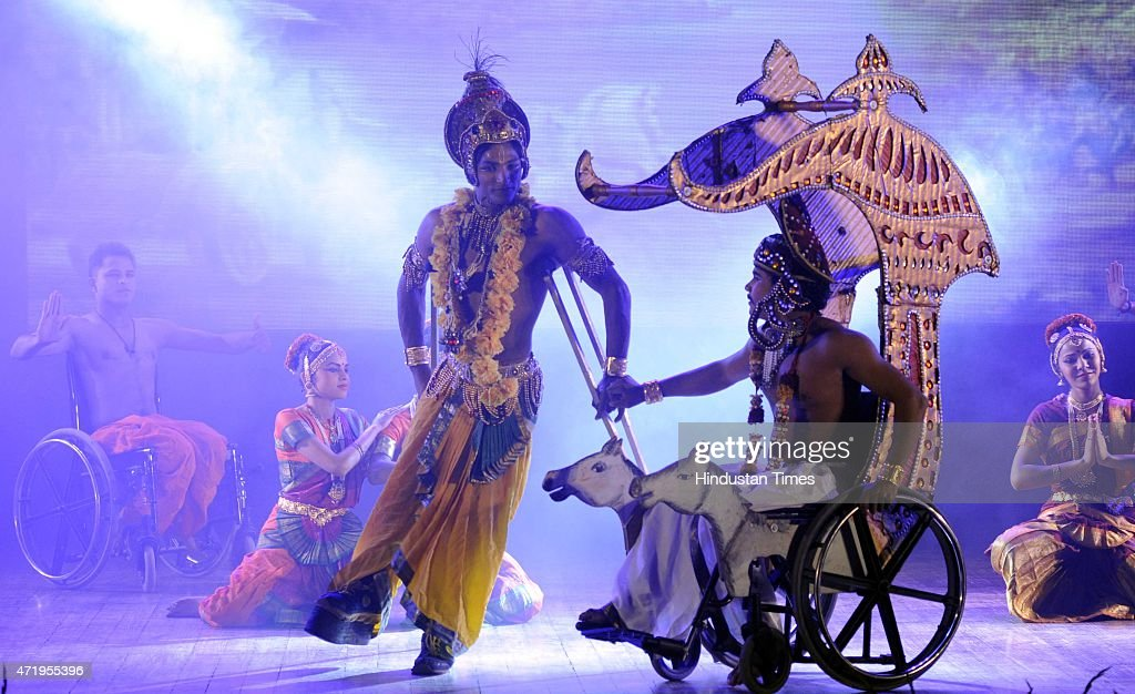 Disabled artists performing dances at Miracle on Wheels show on the eve of the anniversary of the coming into force of the UN Convention on the Rights of Persons with Disabilities, in collaboration with NGOs the Cradle and Indian Council for UN Relations, at FICCI on May 2, 2015 in New Delhi, India. The show celebrates full integration of persons with disability in social processes, one of the key aims of the UNs global strategy on Disability.