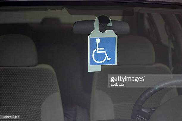 disabled badge - disabled sign stock photos and pictures