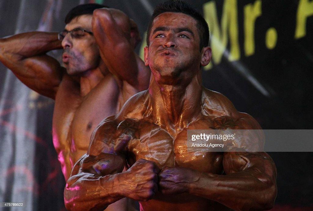 Mr. Afghanistan bodybuilding contest : News Photo