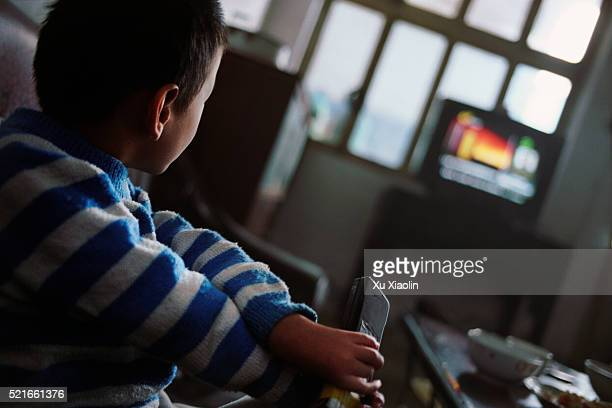 Disabled Foster Child Watching Television