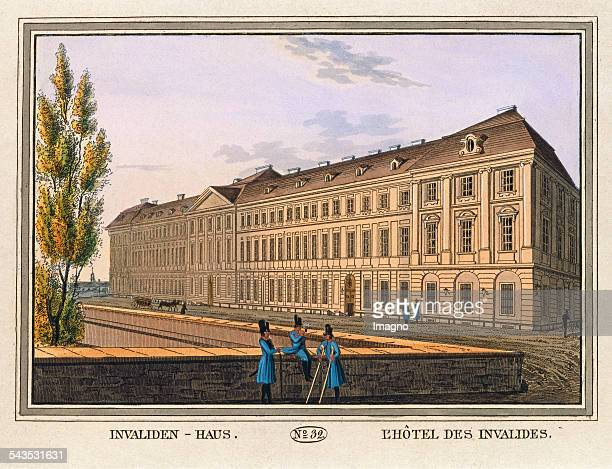 Disabled person's house 1825 Colored copper engraving Journal No 32 from Wiens vorzüglichste Gebäude und Monumente Les principaux batiments et...