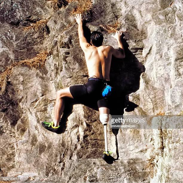 Disabled Rock climber