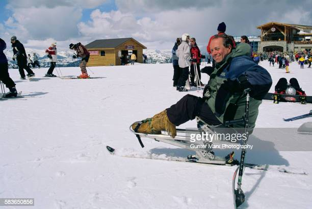 Disabled Skier on Blackcomb Mountain