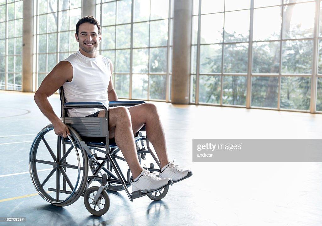 Homem de Esportes para deficientes : Foto de stock