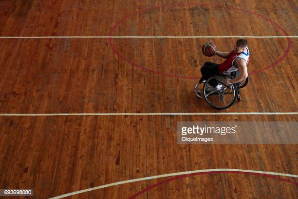 disabled sportsman having basketball practice - cliqueimages stock pictures, royalty-free photos & images